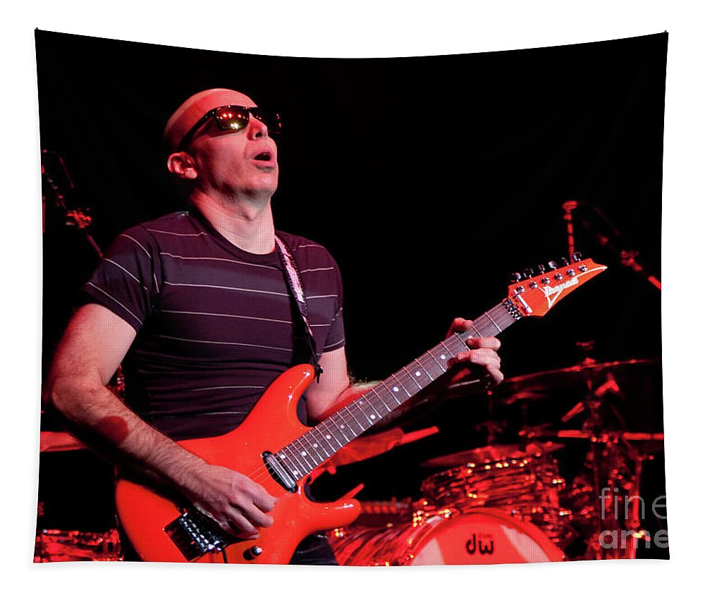 Joe Satriani Tapestry featuring the photograph Satriani 3235 by Timothy Bischoff