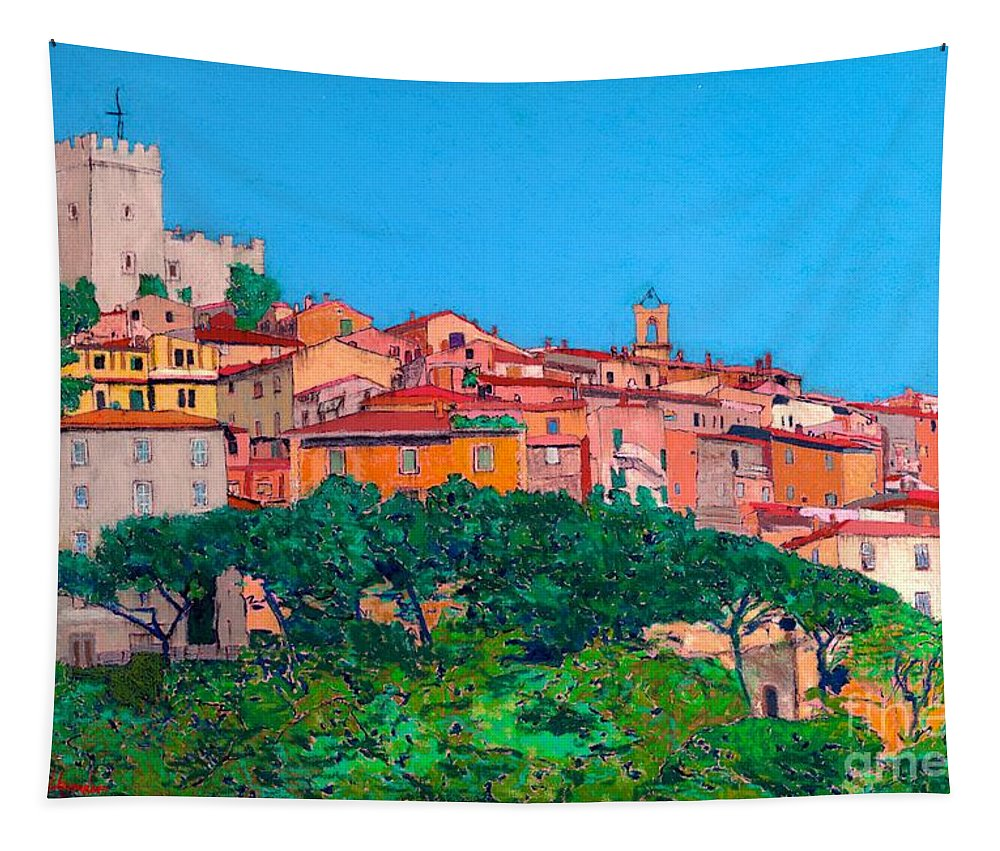 Landscape Tapestry featuring the painting Saturina by Allan P Friedlander
