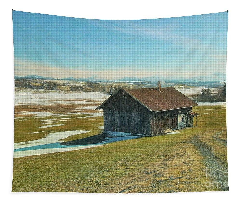 Photo Tapestry featuring the photograph Say Goodbye To The Winter by Jutta Maria Pusl