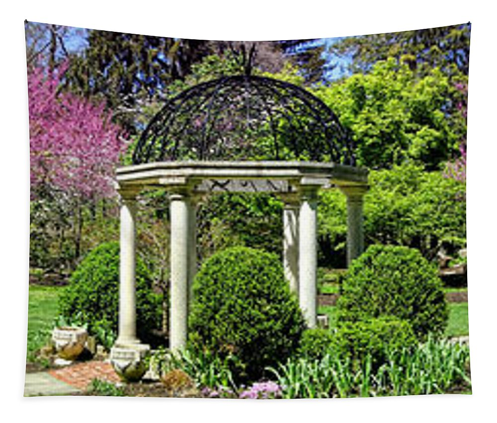 Sayen Tapestry featuring the photograph Sayen Garden Dream by Olivier Le Queinec