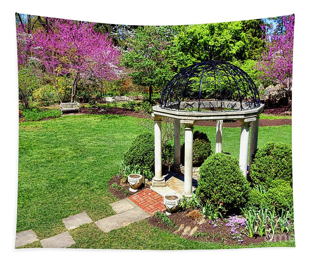Sayen Tapestry featuring the photograph Sayen Garden Spring by Olivier Le Queinec