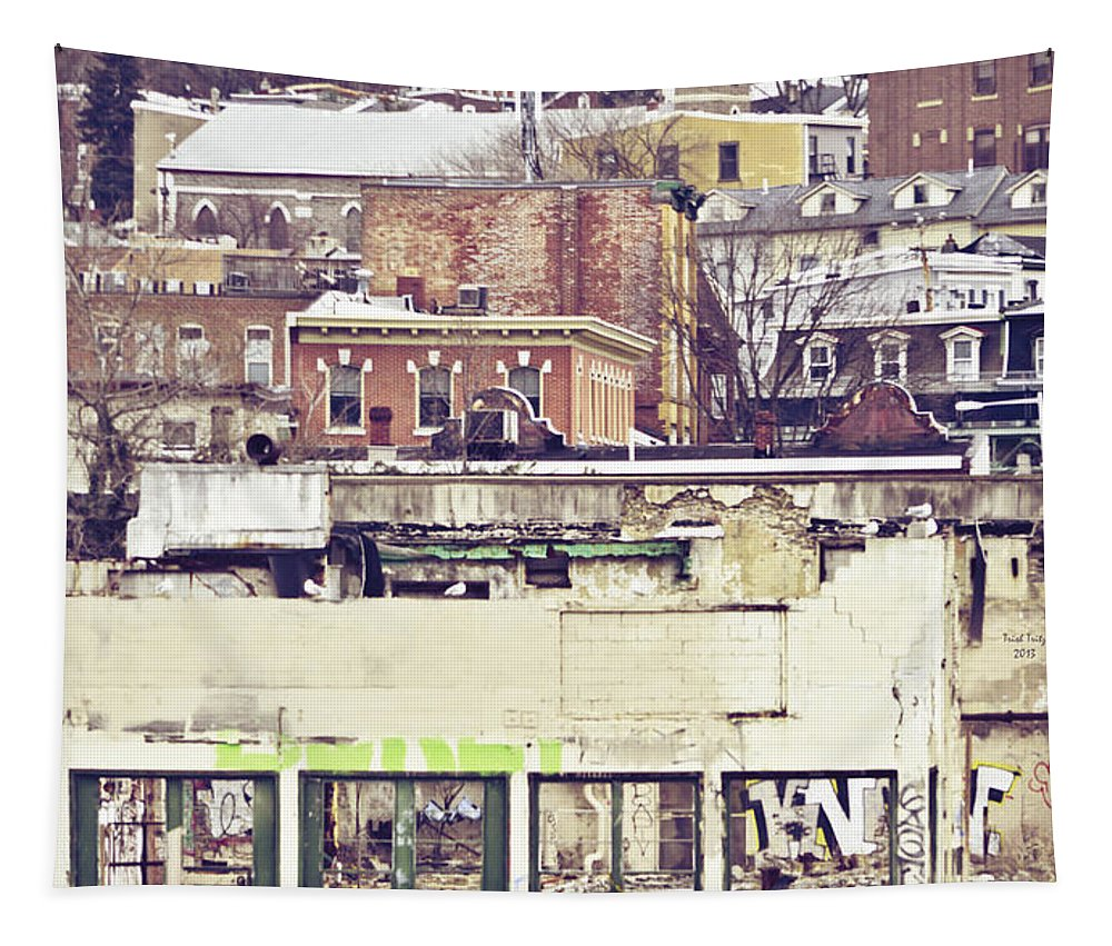 Graffiti Tapestry featuring the photograph Schuylkill Scenery by Trish Tritz