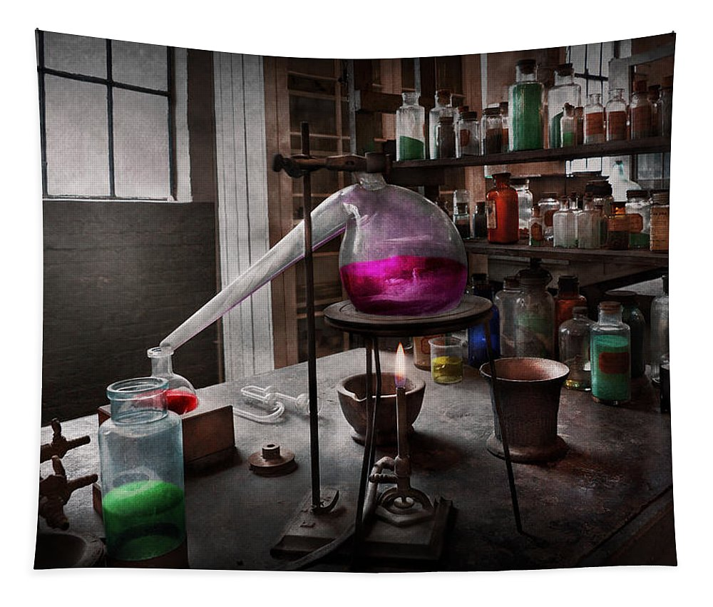 Medicine Tapestry featuring the photograph Science - Chemist - Chemistry For Medicine by Mike Savad