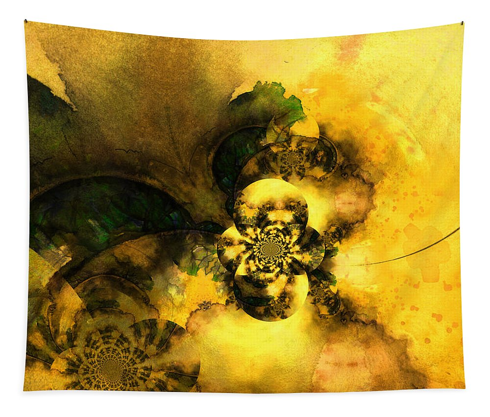 Digital Tapestry featuring the painting Scream of Nature by Miki De Goodaboom