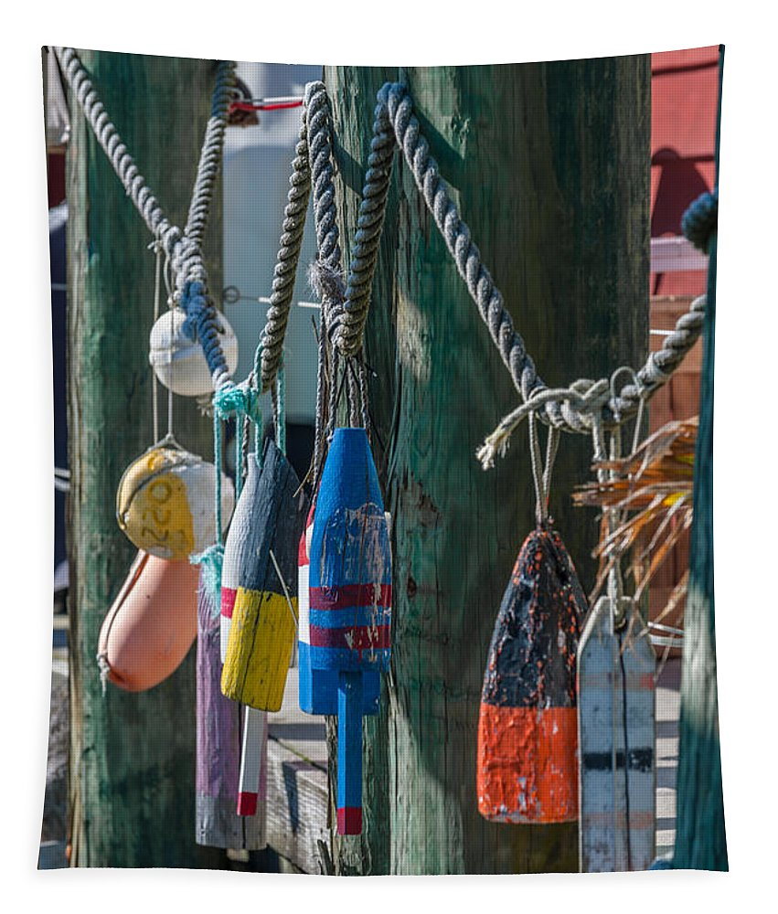 Sea Buoy Tapestry featuring the photograph Sea Buoy's by Dale Powell