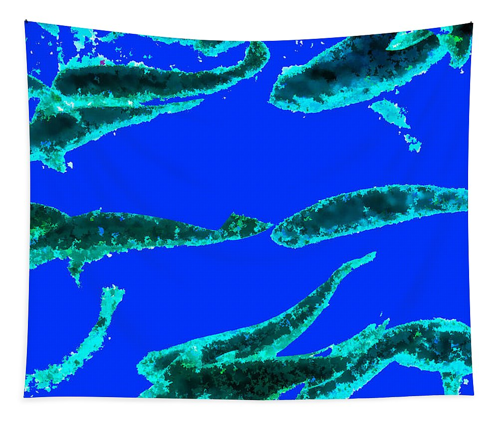 Fish Tapestry featuring the photograph Sea Dreams 1 Blue by Scott Campbell