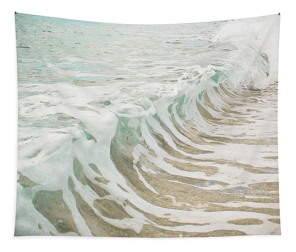Ocean Photographs Tapestry featuring the photograph Sea Foam by Cassia Beck