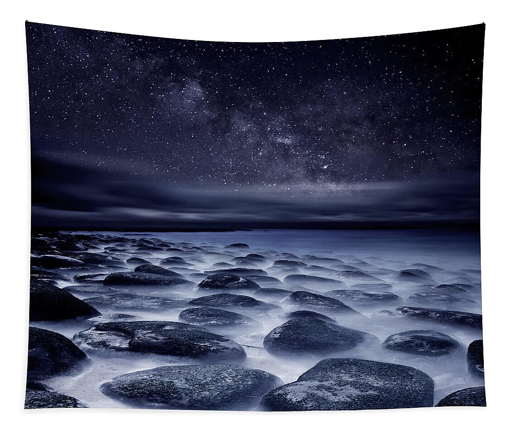 Night Tapestry featuring the photograph Sea of Tranquility by Jorge Maia