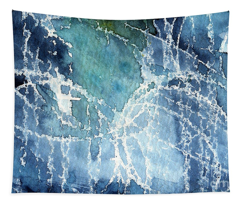 Abstract Painting Tapestry featuring the painting Sea Spray by Linda Woods