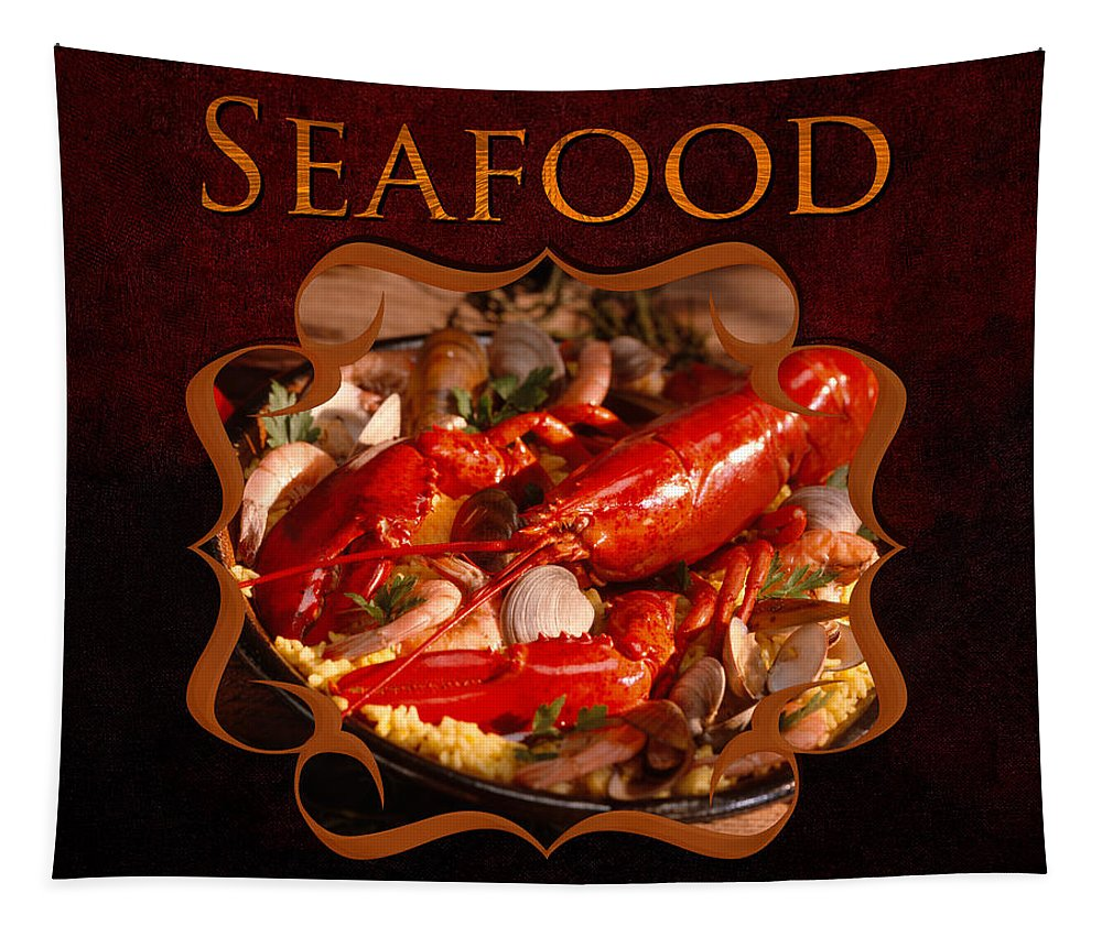 Iris Holzer Richardson Tapestry featuring the photograph Seafood Gallery by Iris Richardson