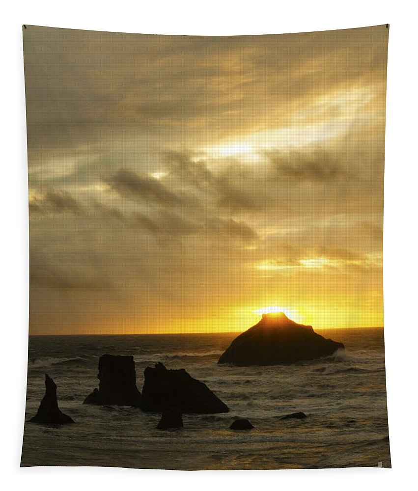 Bandon Tapestry featuring the photograph Seascape Oregon Coast 2 by Bob Christopher