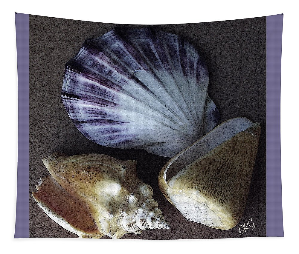 Seashell Tapestry featuring the photograph Seashells Spectacular No 30 by Ben and Raisa Gertsberg