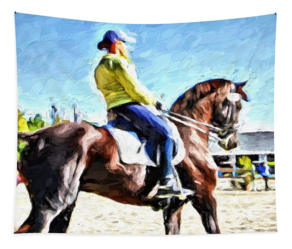 Horse Tapestry featuring the photograph Seat by Alice Gipson