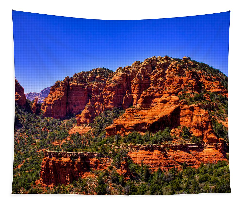 Sedona Tapestry featuring the photograph Sedona Rock Formations IIi by David Patterson