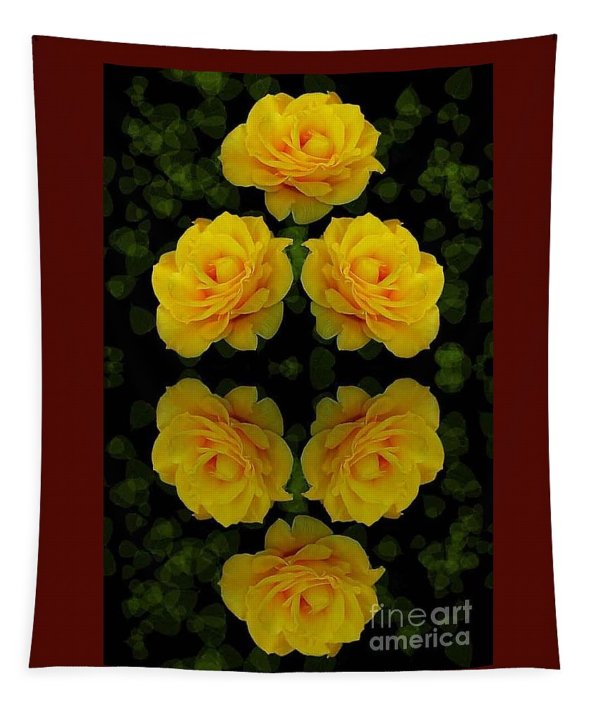 Flowers Tapestry featuring the photograph Seeing Yellow 1 by Ben Yassa