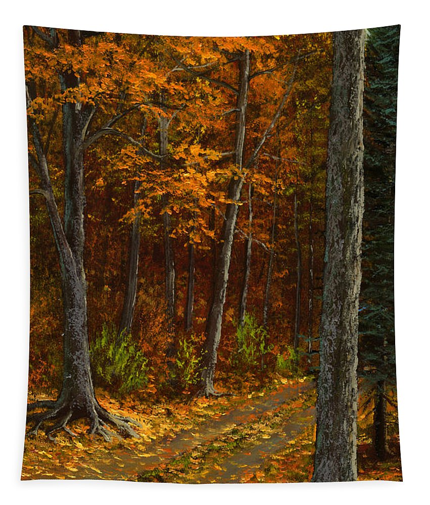 Landscape Tapestry featuring the painting Seldom Used by Frank Wilson