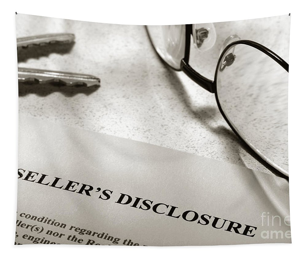 Condition Tapestry featuring the photograph Seller Property Disclosure by Olivier Le Queinec