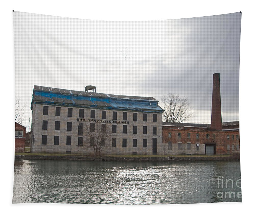 Fresh Water Tapestry featuring the photograph Seneca Falls Knitting Mill by William Norton