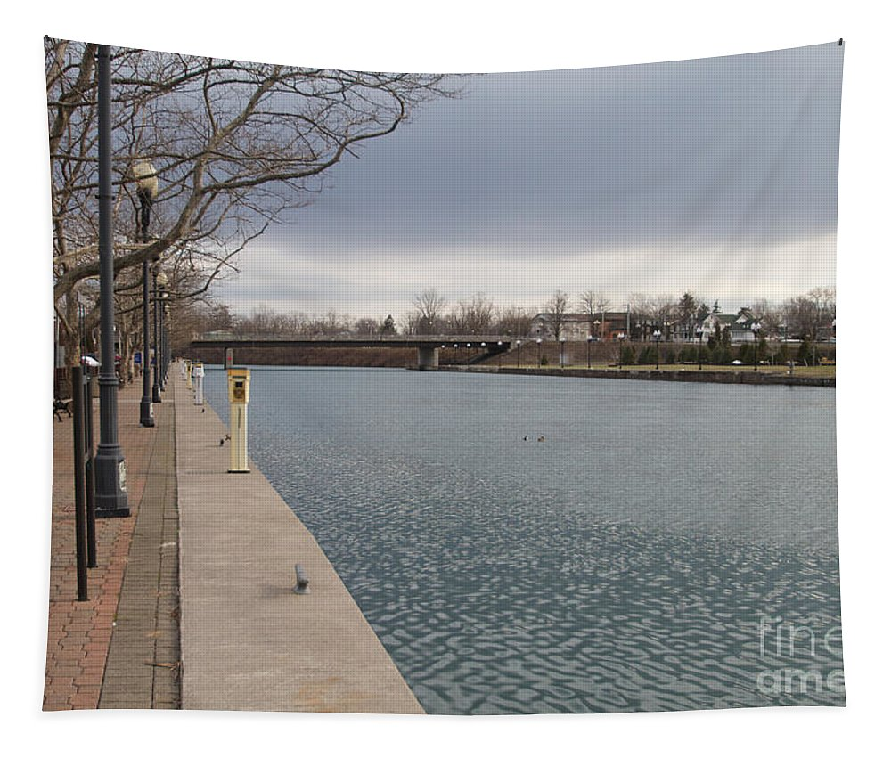 Fresh Water Tapestry featuring the photograph Seneca Falls Marina by William Norton