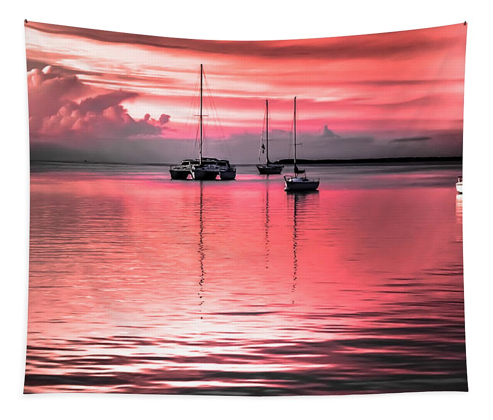 Coral Waterscapes Tapestry featuring the photograph Serenity Bay Dreams by Karen Wiles