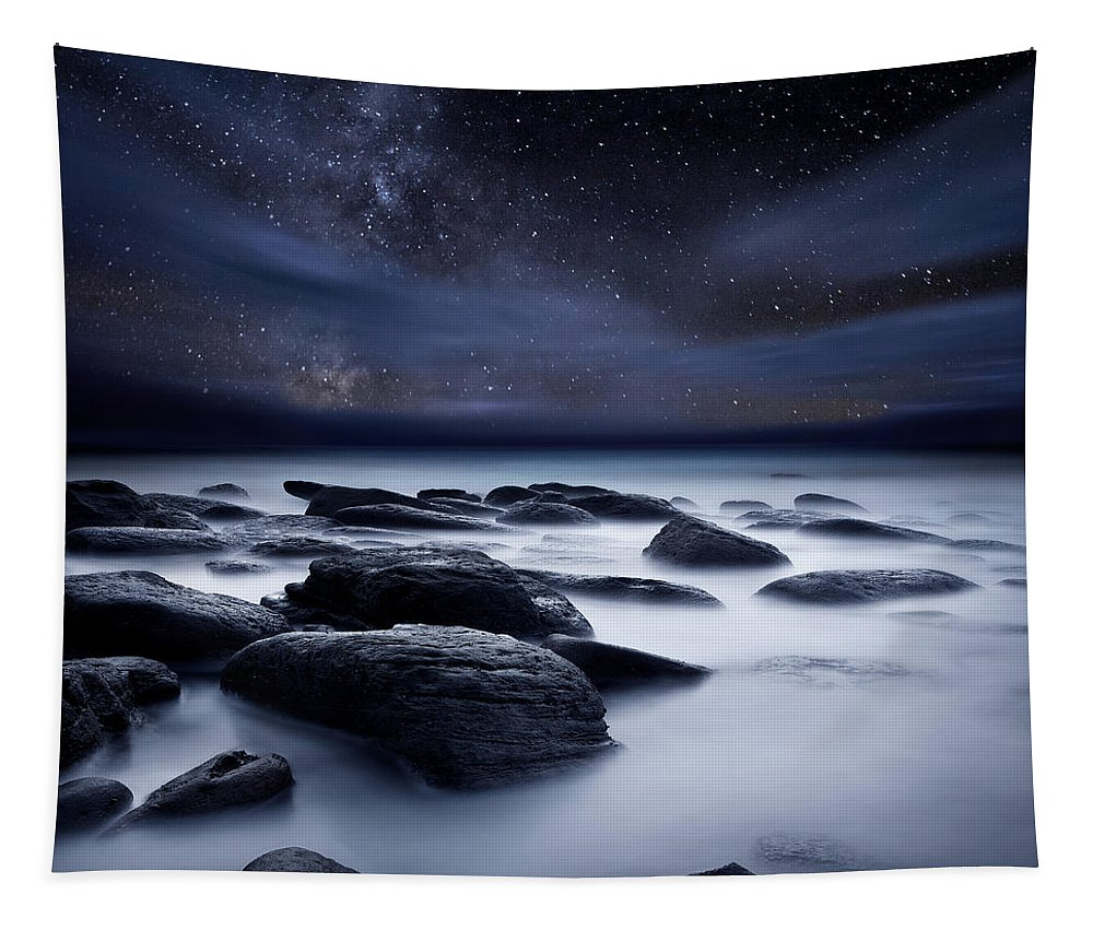 Night Tapestry featuring the photograph Shadows of the Night by Jorge Maia