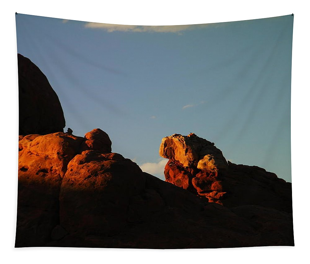 Rocks Tapestry featuring the photograph Shadows On Stone by Jeff Swan