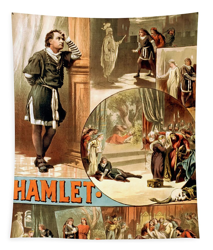 William Shakespeare Tapestry featuring the photograph Shakespeare's Hamlet 1884 by Mountain Dreams