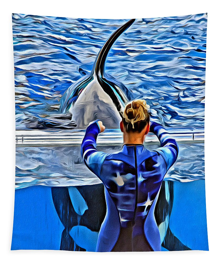 Whale Tapestry featuring the photograph Shapely Orca by Alice Gipson