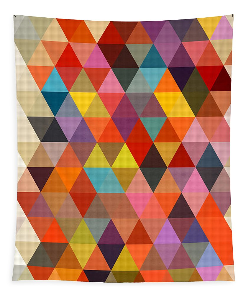 Contemporary Tapestry featuring the painting Shapes by Mark Ashkenazi