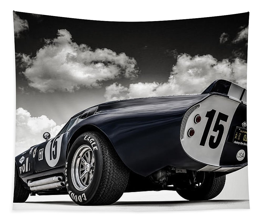 Shelby Tapestry featuring the digital art Shelby Daytona by Douglas Pittman