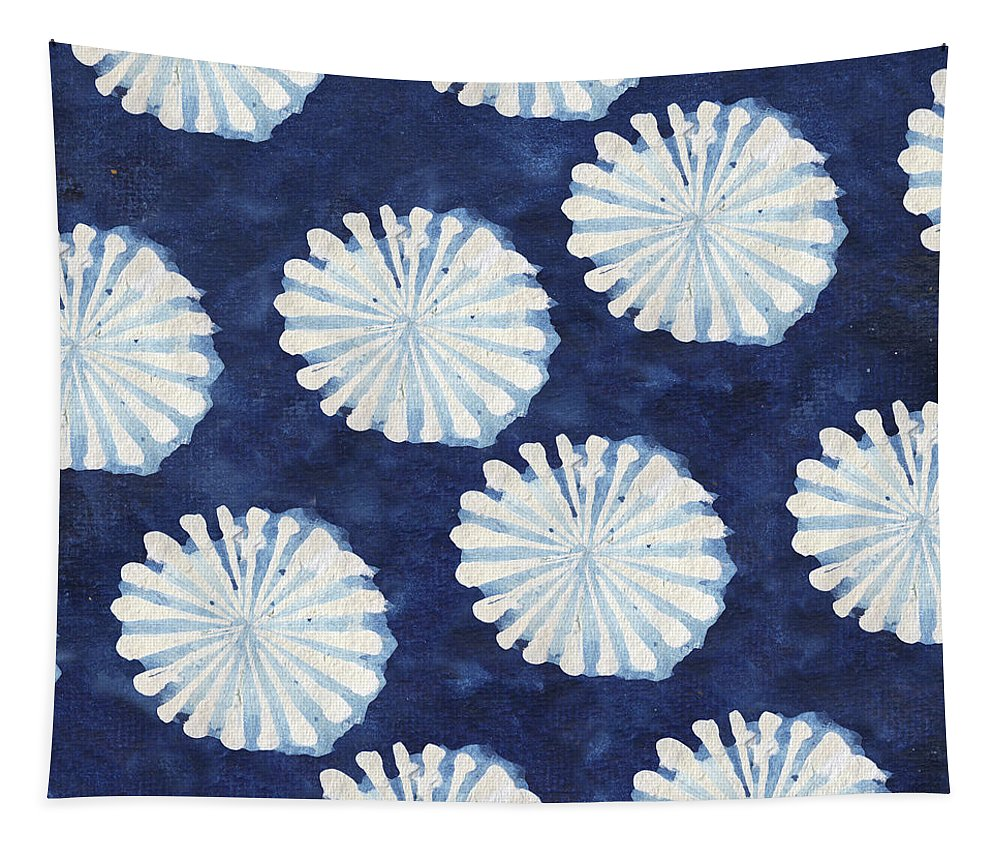 Shibori Tapestry featuring the digital art Shibori IIi by Elizabeth Medley