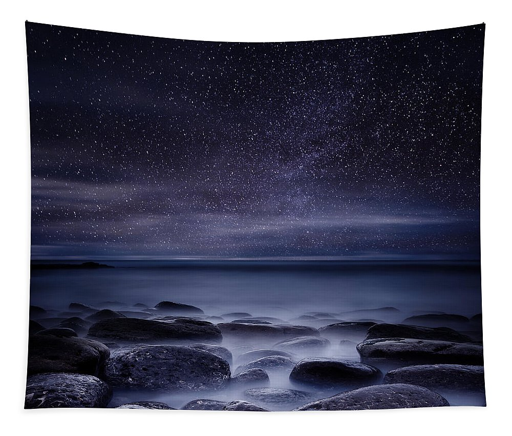 Night Tapestry featuring the photograph Shining in darkness by Jorge Maia
