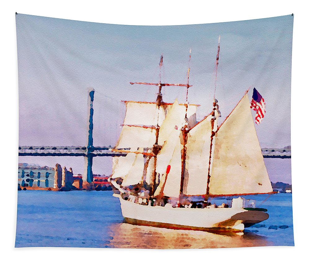 Ship Tapestry featuring the photograph Ship Coming In by Alice Gipson