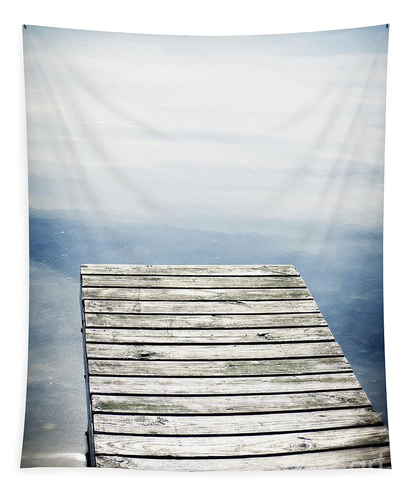 Boardwalk Tapestry featuring the photograph Short Pier by Edward Fielding