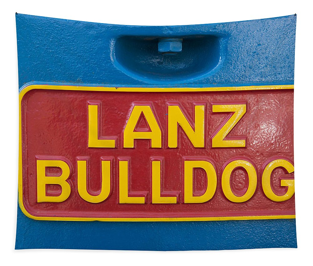 Lanz Tapestry featuring the photograph Sign Lanz Bulldog On A Tractor by Matthias Hauser