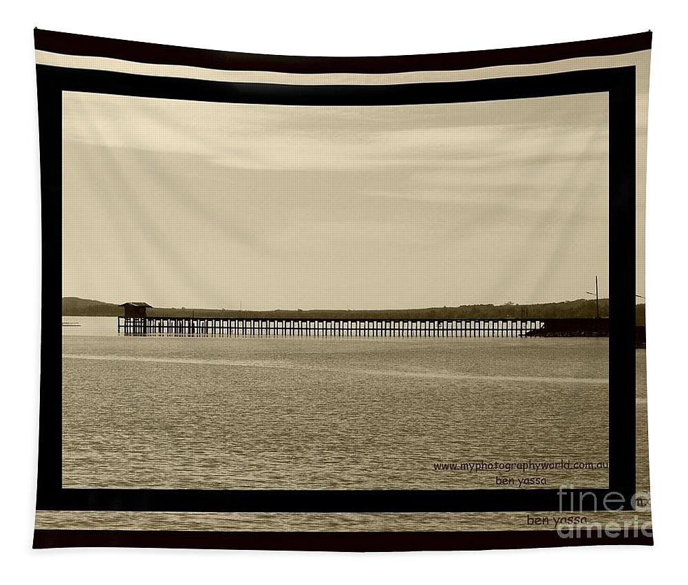 Bridge Tapestry featuring the photograph Silance Bridge by Ben Yassa
