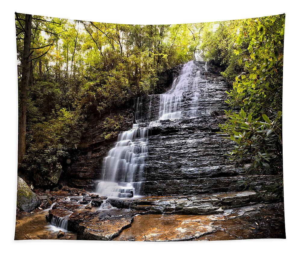 Appalachia Tapestry featuring the photograph Silky Waters by Debra and Dave Vanderlaan
