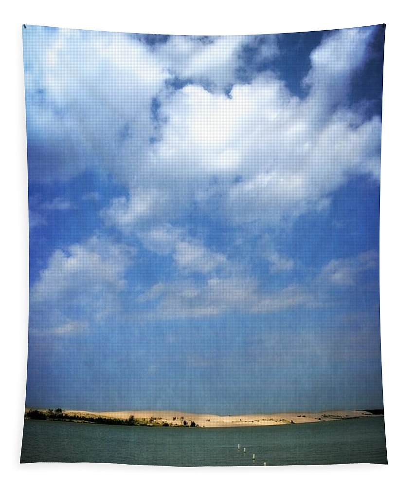 Silver Lake Tapestry featuring the photograph Silver Lake Sand Dunes 2.0 by Michelle Calkins