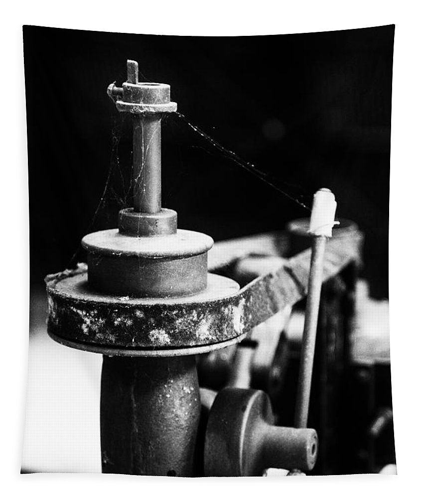 Simple Machinery Tapestry featuring the photograph Simple Machinery by Karol Livote