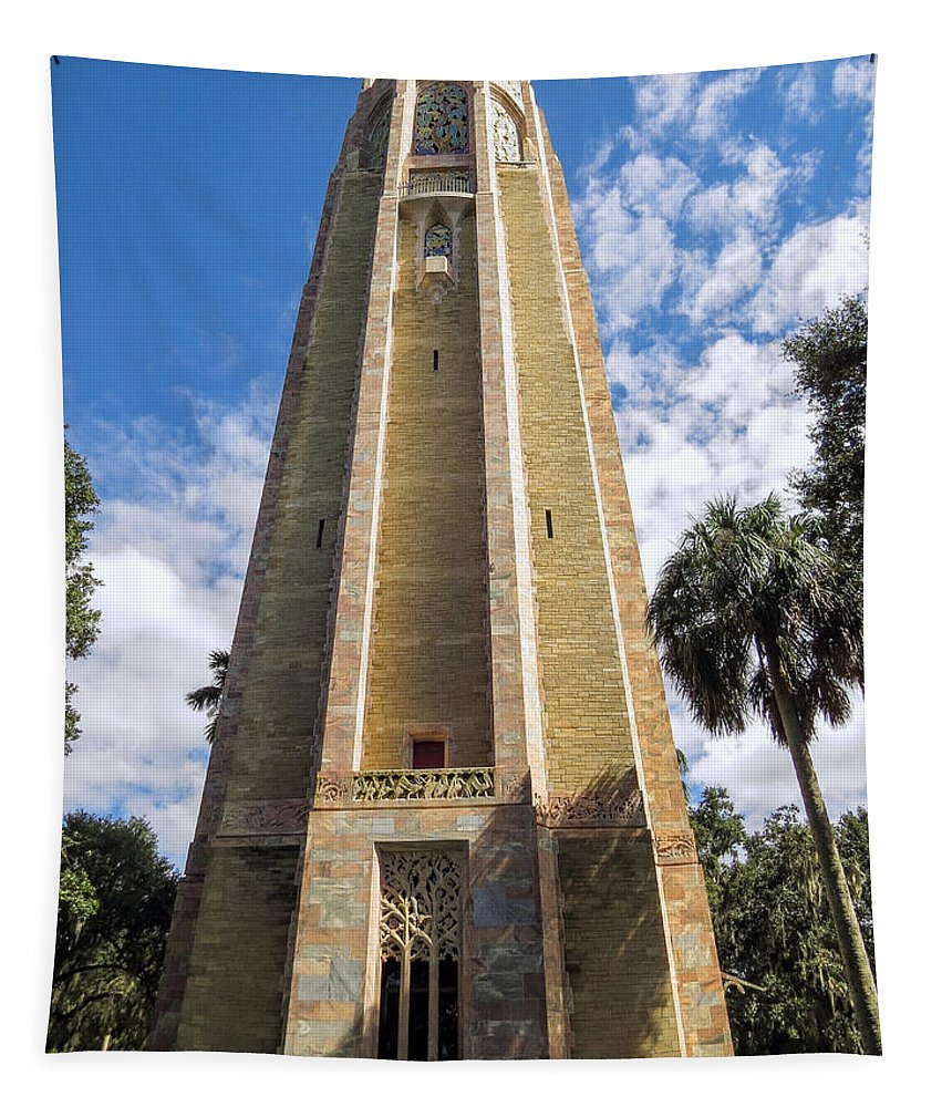 Bok Tower Gardens Tapestry featuring the photograph Singing Tower House Side View by Zina Stromberg