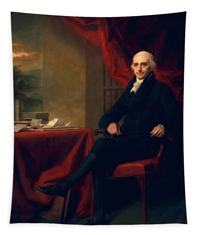Male Tapestry featuring the painting Sir William Miller, Lord Glenlee by Sir Henry Raeburn