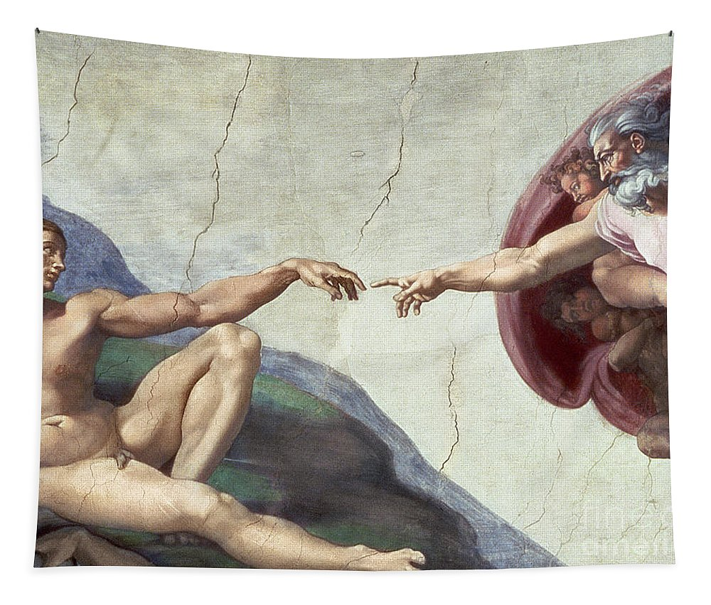 Renaissance Tapestry featuring the painting Sistine Chapel Ceiling by Michelangelo Buonarroti