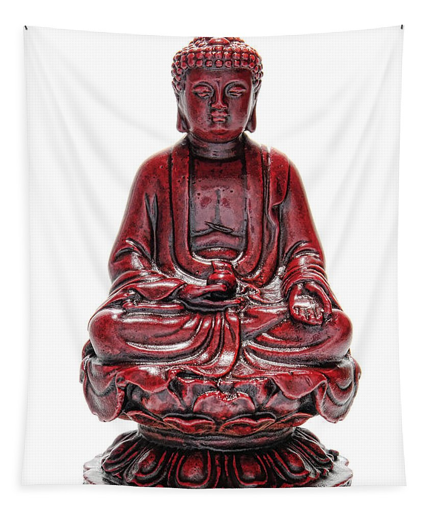 Buddha Tapestry featuring the photograph Sitting Buddha by Olivier Le Queinec