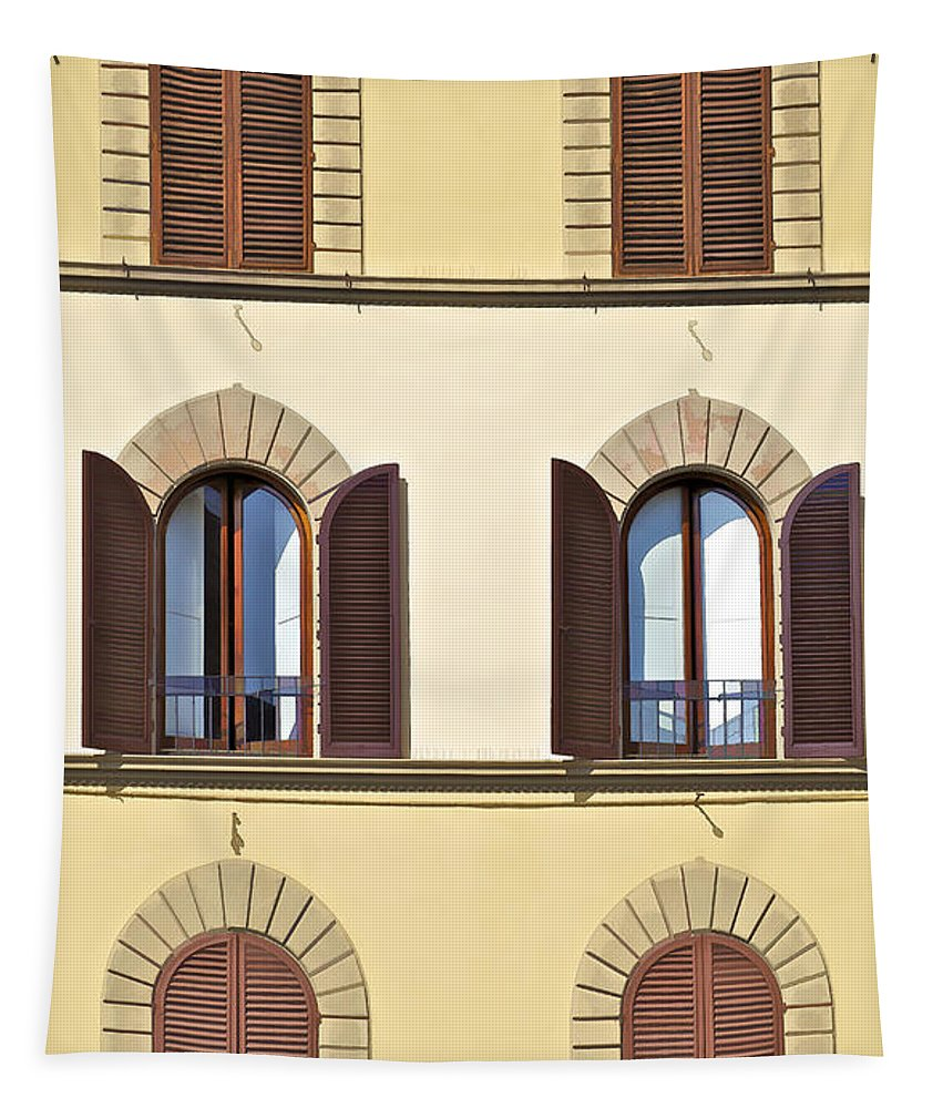 Window Tapestry featuring the photograph Six Windows Of Florence by David Letts