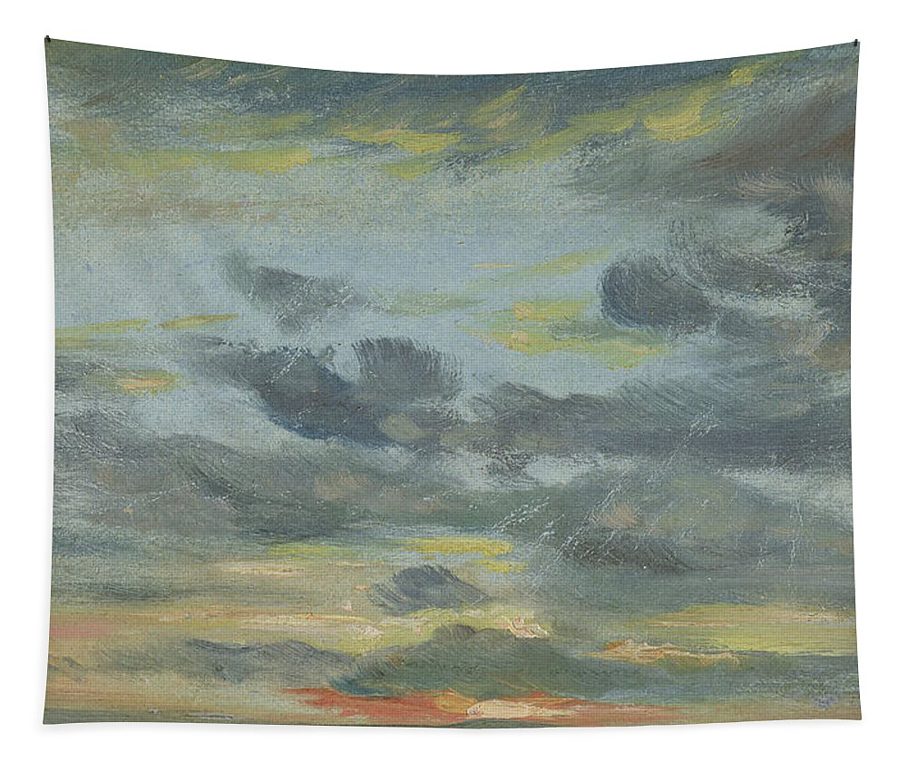 Sunset Tapestry featuring the drawing Sky Study, Sunset, 1821-22 by John Constable