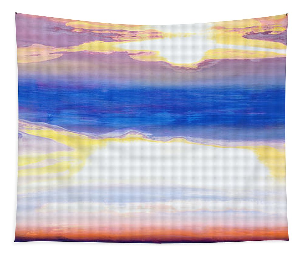 Skyscape Tapestry featuring the painting Skyscape by Lou Gibbs