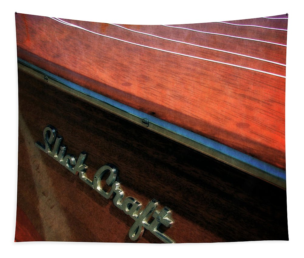 Slick Craft Tapestry featuring the photograph Slick Craft Powerboat by Michelle Calkins