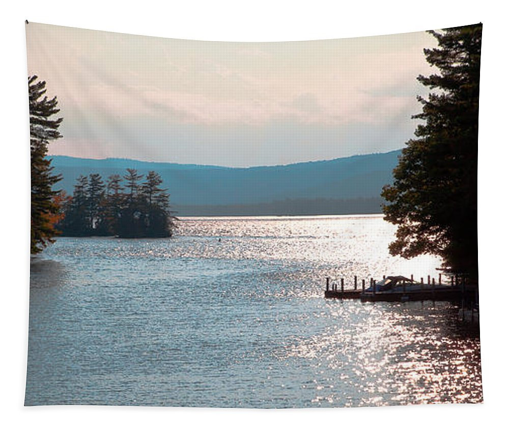 Adirondack's Tapestry featuring the photograph Small Dock On Lake George by David Patterson