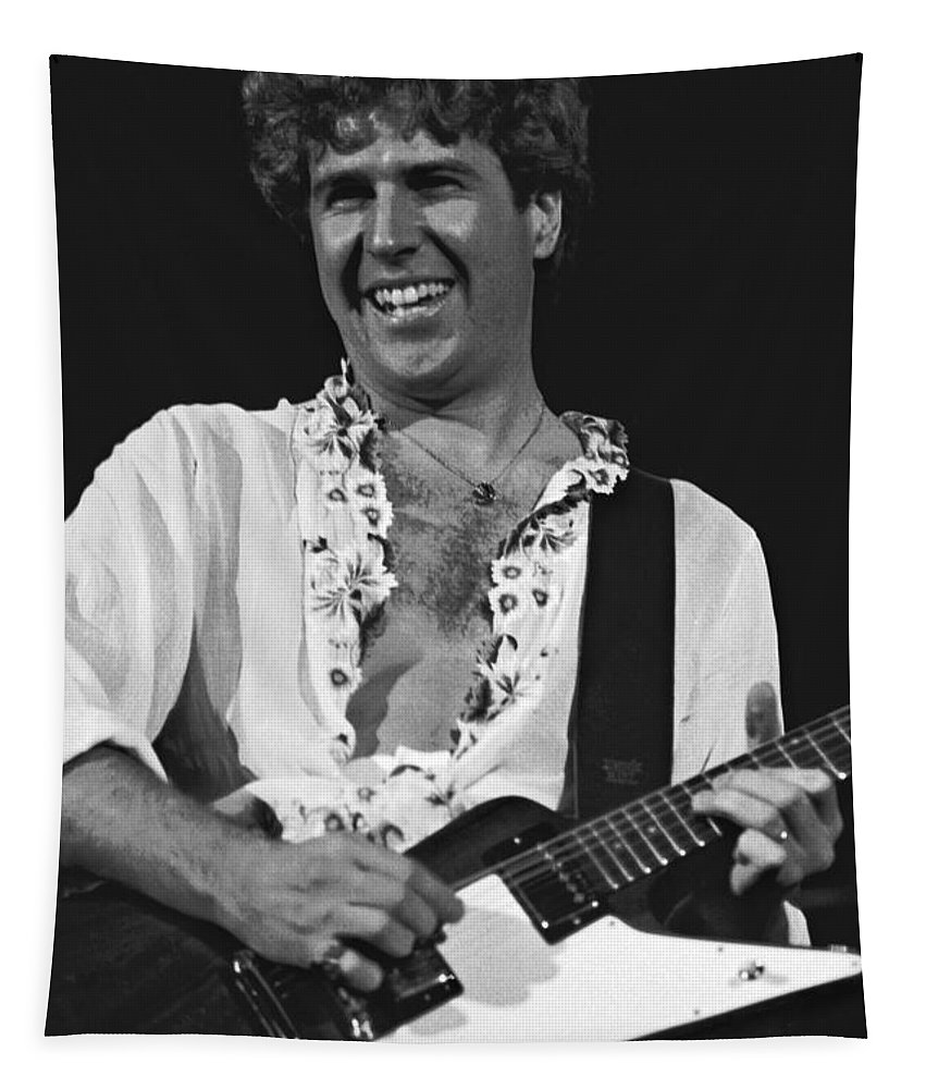 Sammy Hagar Tapestry featuring the photograph Smiling Sammy In Oakland 12-31-77 by Ben Upham