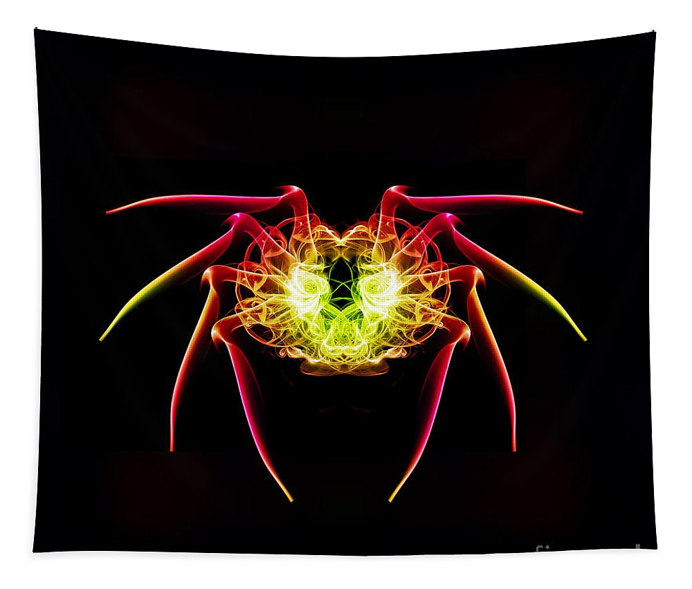Smoking Trails Tapestry featuring the photograph Smoke Spider by Steve Purnell